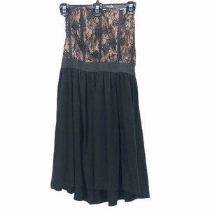 Elle Womens Strapless Cocktail Dress Black Size 6
